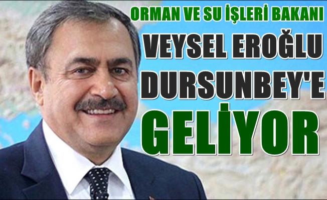 Orman ve Su İşleri Bakanı Veysel Eroğlu Dursunbey'e geliyor