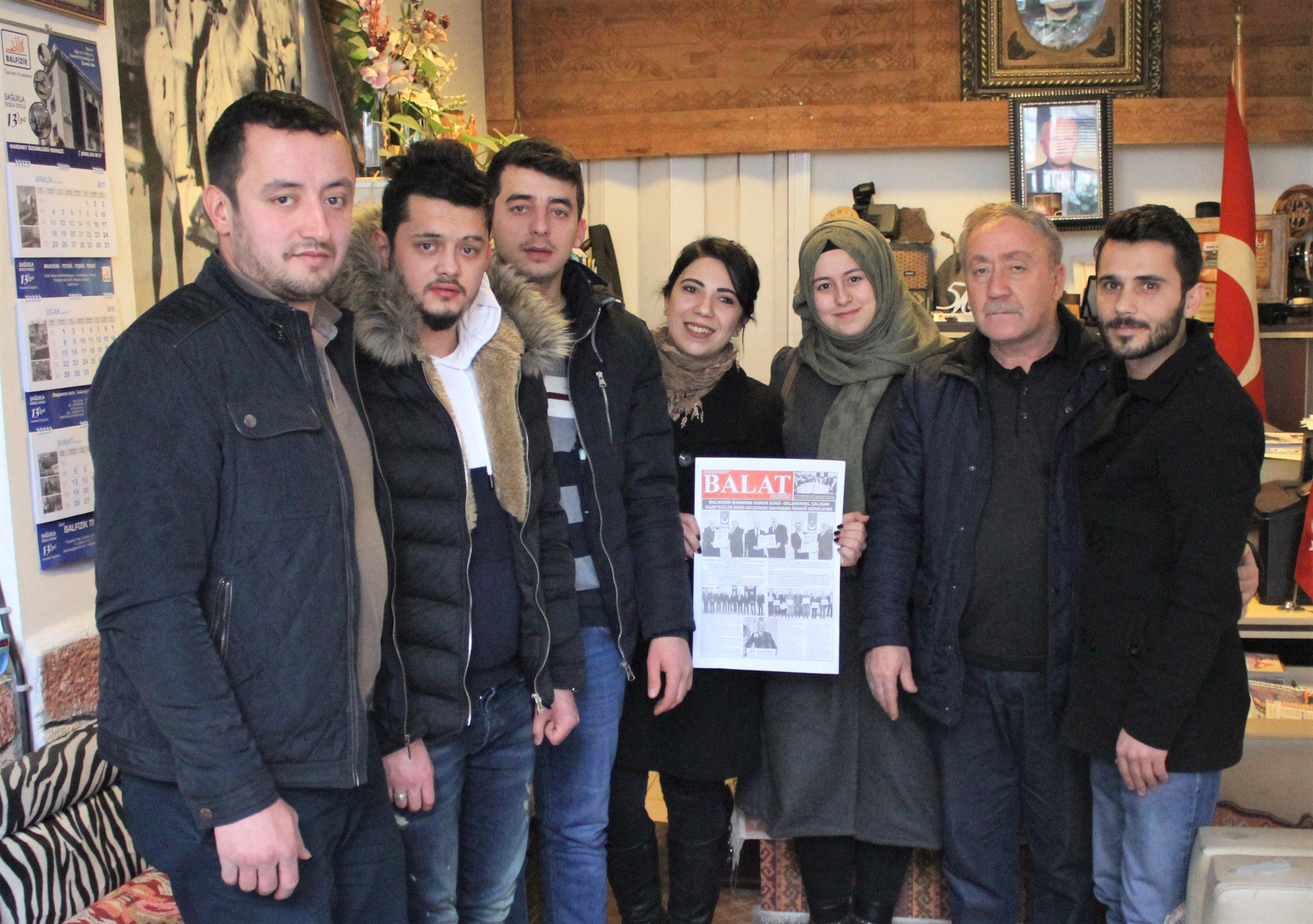 Ak Parti İlçe Gençlik Kolları Yeni Yönetimi Balat Gazetesini Ziyaret Etti
