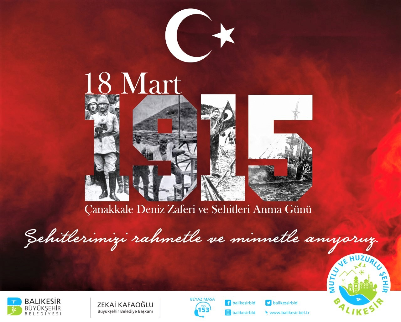 Büyükşehir Belediyemizce verilecek 18 Mart Çanakkale Deniz Zaferi ve Şehitleri Anma Günü