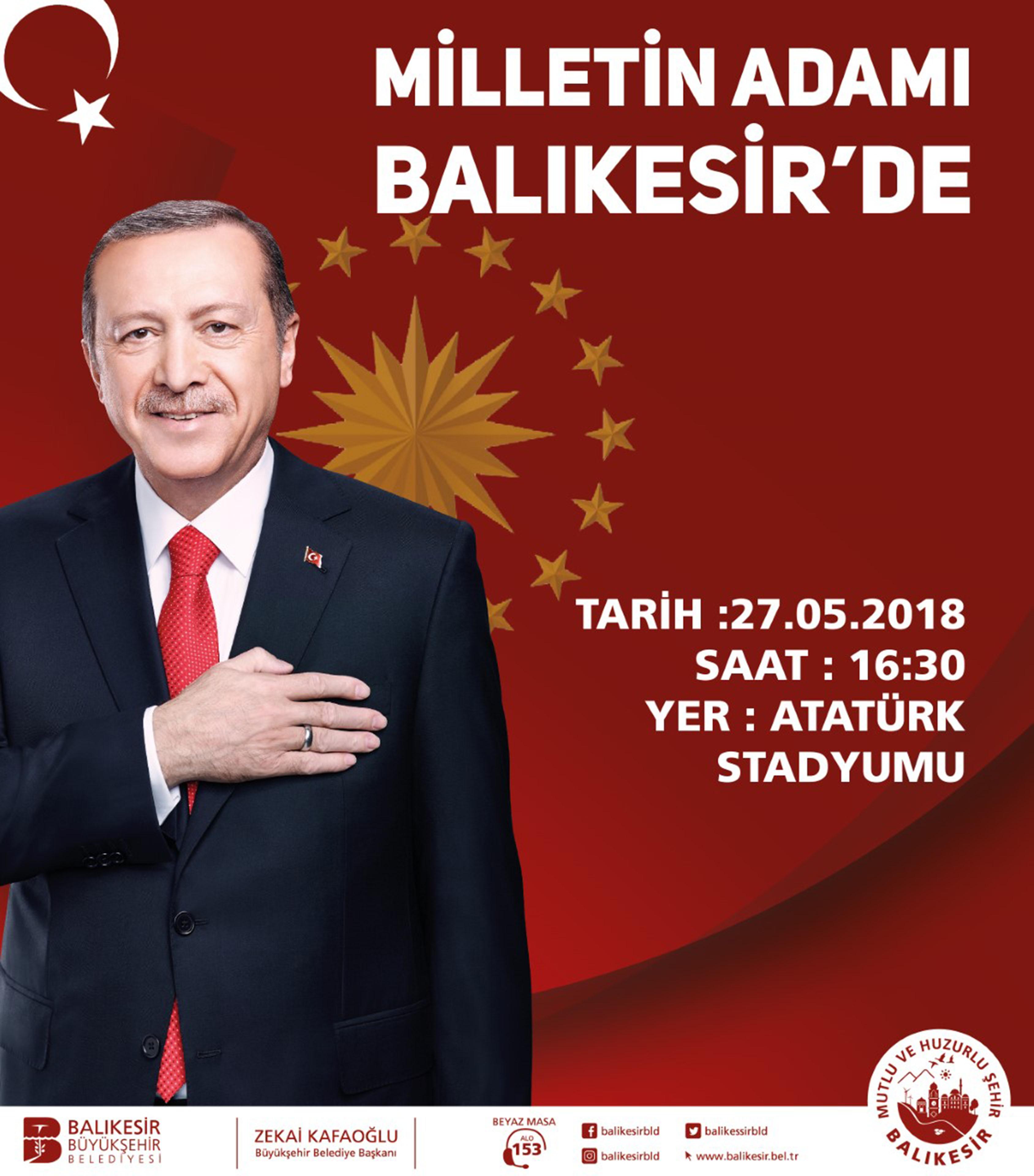 Balıkesir Büyükşehir Belediye Başkanlığı Milletin Adamı Balıkesir'de